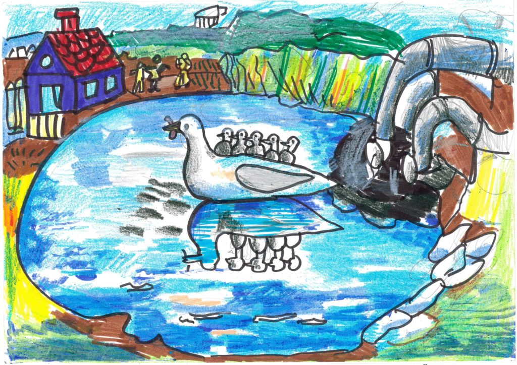 «Загрязнение водоемов», Бэтрынча Дарья, 7 лет, ДДТ «Преображенский», изостудия
