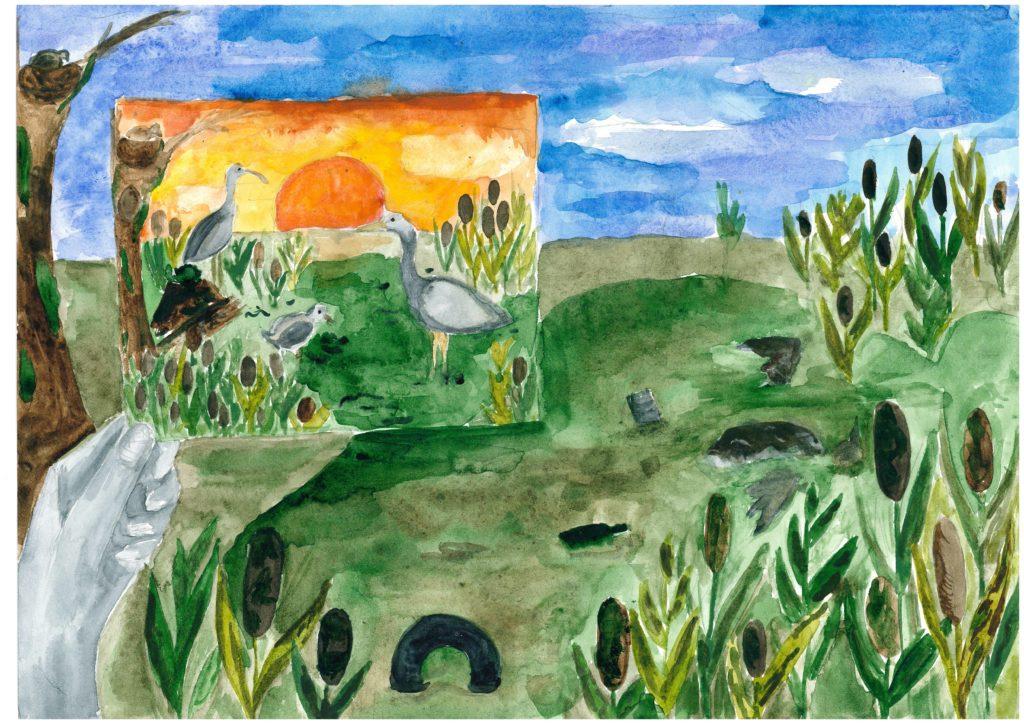 «Загрязнение территории», Васильева Александра, 14 лет, ДДЮТ Фрунзенского района