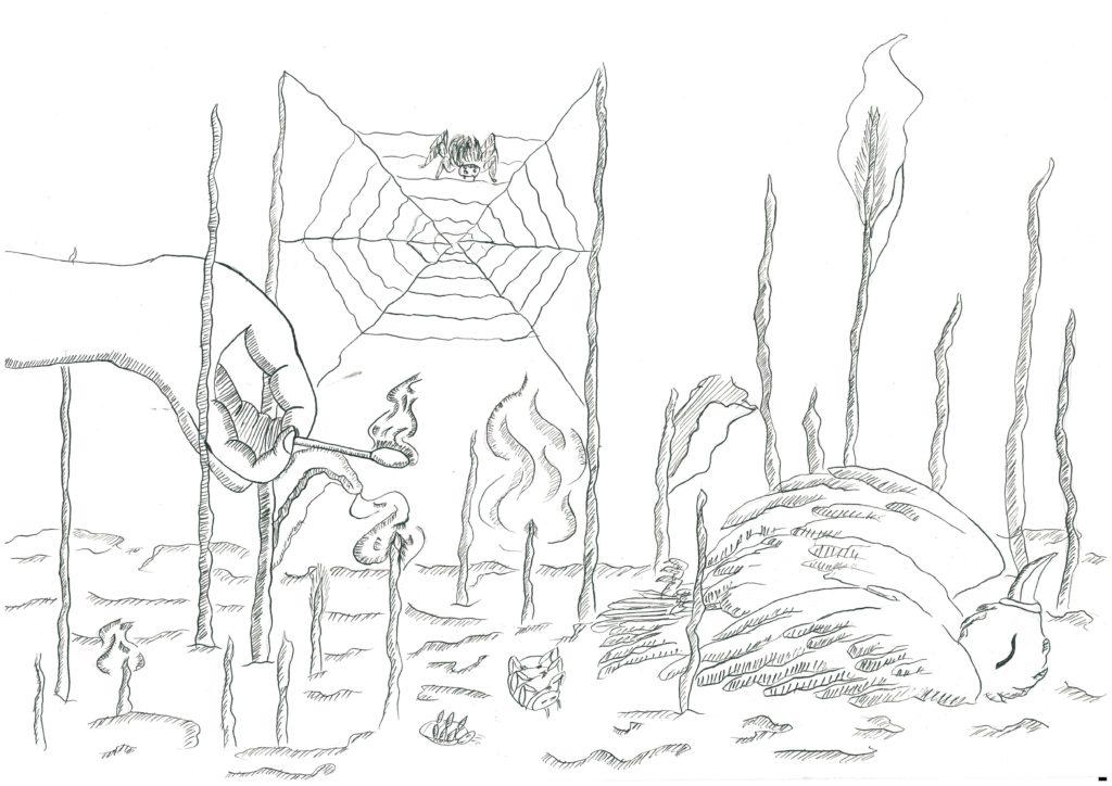 «Разведение костра, поджог травы», Верхогляд Олеся, 14 лет, ДДЮТ Фрунзенского района