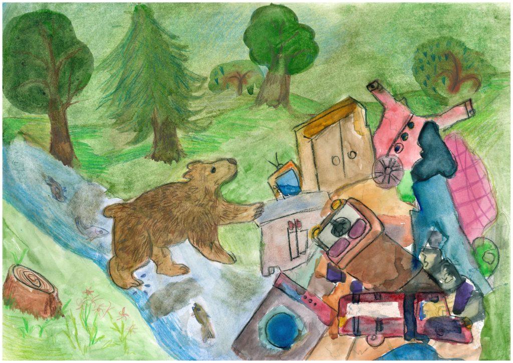 «Загрязнение окружающей среды», Козлова Варвара, 11 лет, СПбГБОУ ДОД «Санкт-Петербургская городская художественная школа»