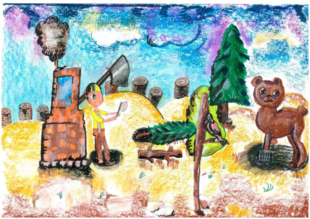 «Вырубка леса», Осипова Надежда, 9 лет, ДДТ «Преображенский», студия «Керамика»