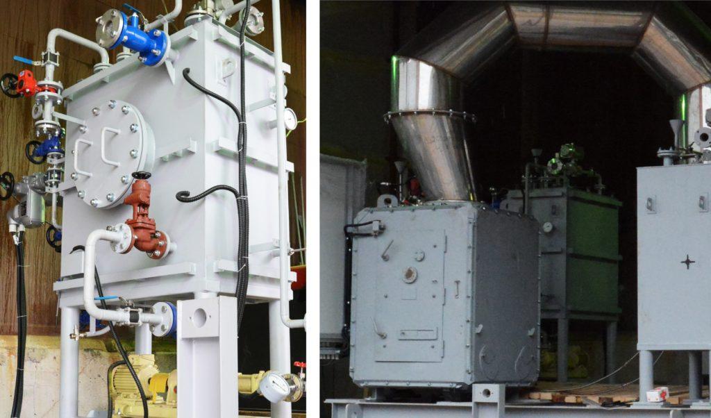 Сборка судового инсинератора на производственной площадке ЗАО «Безопасные Технологии»
