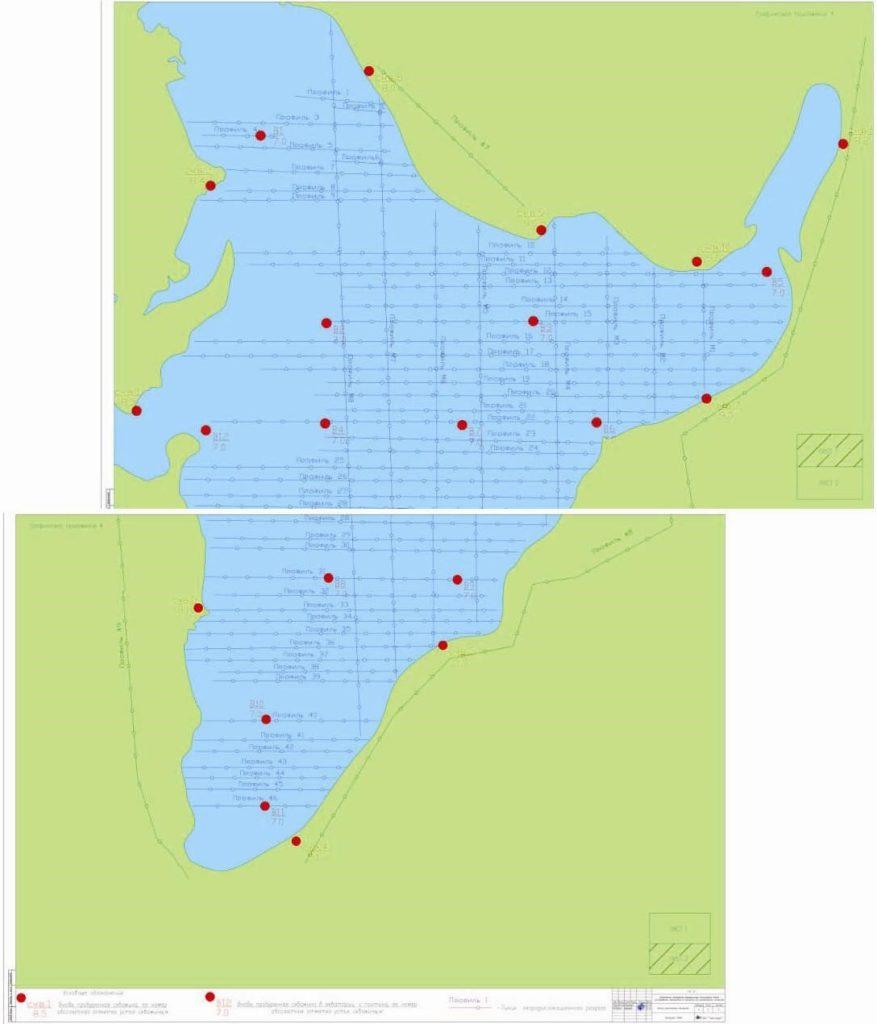Рисунок 2. Схема расположения георадиолокационных профилей