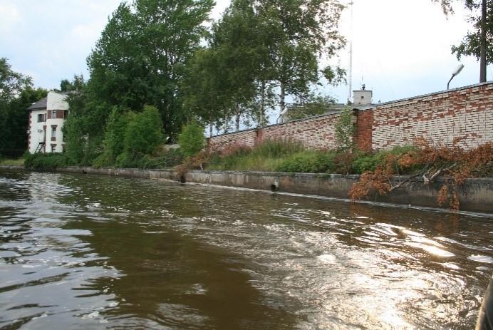 Рис. 7А. Техногенный тип берега: бетонный парапет у Сестрорецкой водопроводной станции