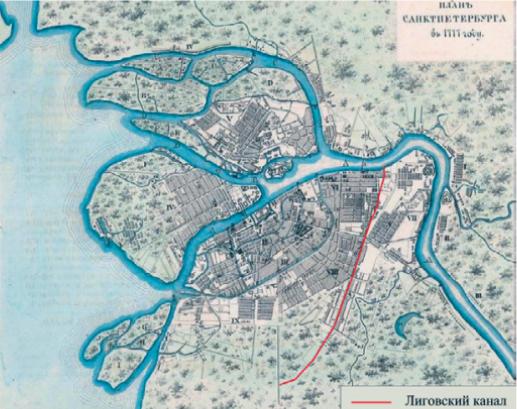 Рисунок 1. План Санкт-Петербурга 1777 года