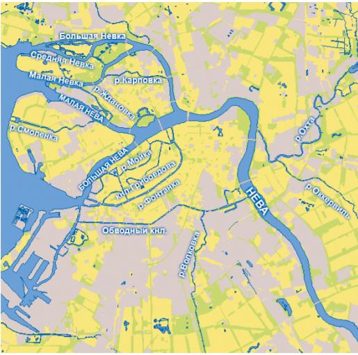 Основные реки Санкт-Петербурга