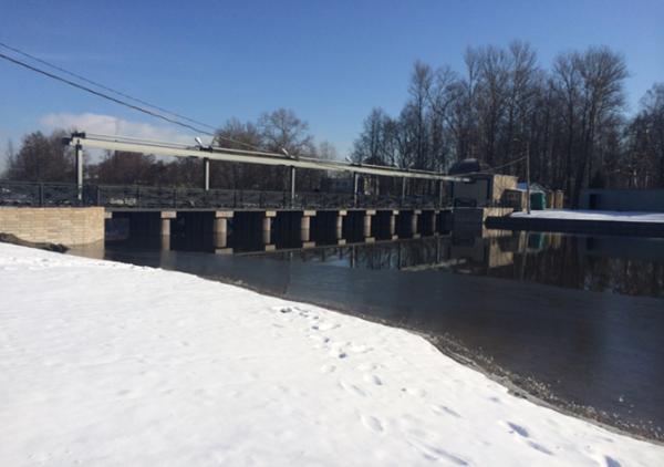 Плотина №3 Ижорского водохранилища до и после выполнения работ по капитальному ремонту