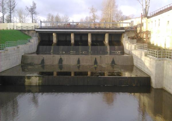 Плотина №2 Ижорского водохранилища до и после выполнения работ по капитальному ремонту