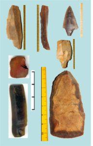 Рисунок 3. Изделия из импортного кремня из раннемезолитических комплексов восточной части Балтики