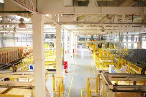 Производство ламината компании Tarkett, отмеченного экомаркировкой I типа «Листок жизни»