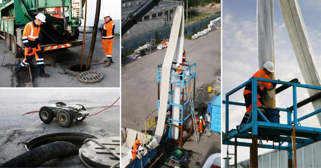 Санация трубопроводов на фабрике «Петро»