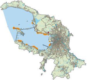 Зоны регулярных стоянок малого лебедя в периоды миграций в Санкт-Петербурге