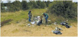 Уборка мусора в ООПТ «Север Мшинского болота», проведенная сотрудниками компании совместно с участниками волонтерского движения «Чистая Вуокса». Фото Виталия Паничева