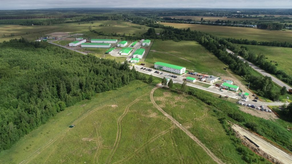Временный вахтовый городок Nord Stream 2 в Кингисеппском районе // Nord Stream 2 / Agiteco
