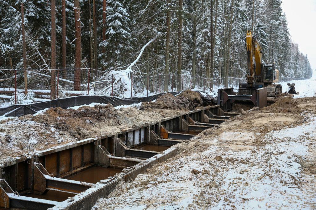 Установка траншейных крепей (тренчбоксов) для минимизации экологических воздействий // Nord Stream 2 / Agiteco