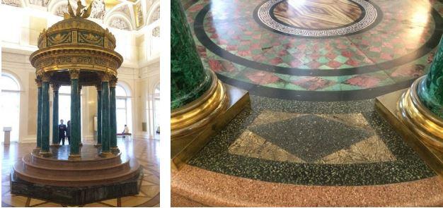 Фото 2. Малахитовая ротонда и ее мозаичный пол. Эрмитаж