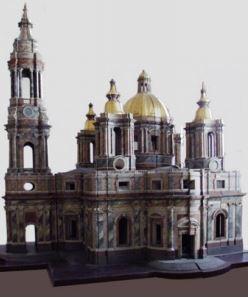 Проектная модель Исаакиевского собора по проекту А. Ринальди. Ок. 1767-1769