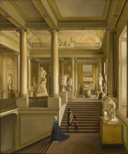 И. А. Иванов. Парадная лестница Академии художеств, 1830 г. © ФГБУК НИМ РАХ, 2019