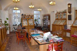 Зал мемориальных коллекций минералогического музея. Фотография 2019 года