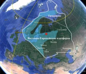 Рисунок 7. Контуры морских бассейнов, покрывавших континент Балтика в среднем кембрии, позднем кембрии и в начале ордовика