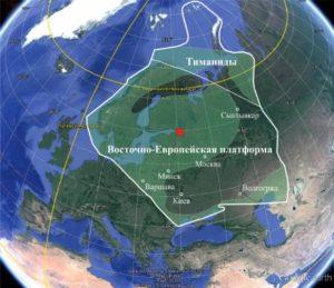 Рисунок 12. Контуры окраинных и внутренних эпиконтинентальных морских бассейнов, покрывавших континент Балтика в среднем ордовике